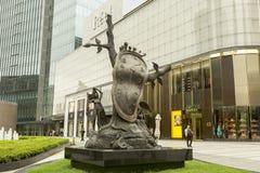 Dali-` s Skulptur, Adel der Zeit in Shanghai, China Lizenzfreie Stockbilder