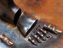 Dali Sectioned Foot Sculpture, Figueres Royalty Free Stock Images