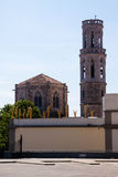 Dali Theatre and Museum  and Church of St. Peter in Figueres Stock Photo