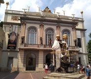 Dali Theatre-Museum in Figueres, Catalonia, Spain. stock photo