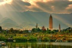 Dali tre Pagodas Fotografie Stock