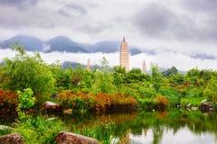 Dali trois pagodas Photographie stock