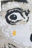 Dali väggmålning på den Stravinsky springbrunnen Arkivbilder