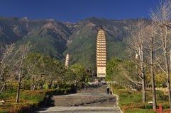 Dali, Yunnan, China. Chongsheng temple pagoda Stock Images