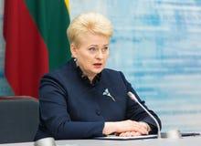 dalia grybauskaite立陶宛总统 库存图片