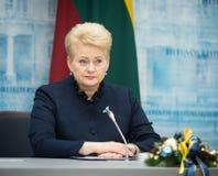dalia grybauskaite立陶宛总统 库存照片