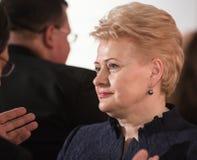 Dalia Grybauskaite Fotografia de Stock