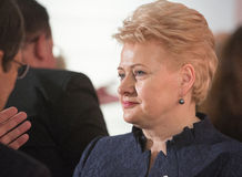 Dalia Grybauskaite. GDANSK, POLAND - May 07, 2015: Lithuanian President Dalia Grybauskaite during events to mark the 70th anniversary of the victory over Nazism Royalty Free Stock Image