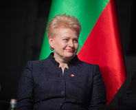 Dalia Grybauskaite. GDANSK, POLAND - May 07, 2015: Lithuanian President Dalia Grybauskaite during events to mark the 70th anniversary of the victory over Nazism Stock Image