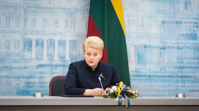 dalia grybauskaite Lithuania prezydent Obraz Royalty Free