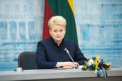 dalia grybauskaitelithuania president Arkivfoto