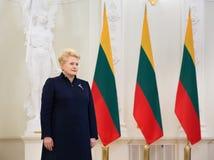 dalia grybauskaitelithuania president Royaltyfri Fotografi