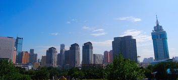 Dalian, China. Labor park, Dalian, China. Group of buildings Royalty Free Stock Image