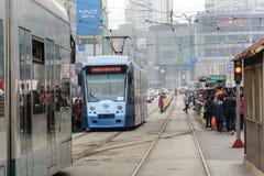 Dalian, China - November 1, 2015: crowd of passengers are waiting Stock Photos