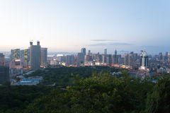 Dalian city in the evening Stock Photos