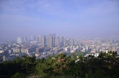 Dalian cityscape in China. Royalty Free Stock Image