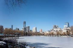 Dalian cityscape in winter. Winter cityscape of Dalian city, Liaoning province, China Stock Images