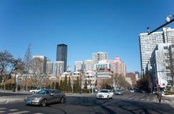 Dalian cityscape in winter Stock Photos