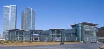 Dalian Exhibition Center. In Dalian, China Royalty Free Stock Images
