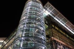 Dalian Exhibition Center. A glass steel construction in Dalian, China Royalty Free Stock Photo