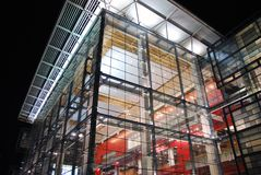 Dalian Exhibition Center. A glass steel construction in Dalian, China Royalty Free Stock Photos