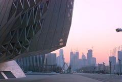 Dalian International Meeting Centre. Locate at east harbor ,China Royalty Free Stock Image