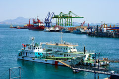 The Dalian port Stock Image