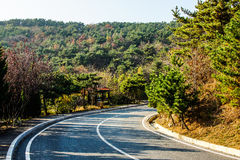 Dalian scenery along the coastal road royalty free stock image