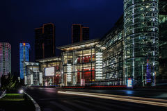 Dalian Xinghai International Convention and Exhibition Centre II Night Stock Image