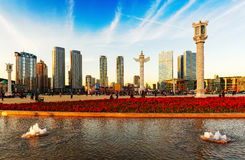 Dalian Xinghai square Stock Photo