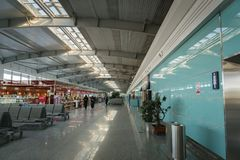 Dalian Zhoushuizi lotnisko międzynarodowe w Chiny zdjęcia stock