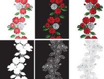 Dalias inconsútiles de las flores del modelo Foto de archivo