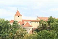 Daliborka и черная башня на замке Праги Стоковое фото RF