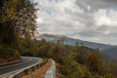 Daling bij het Nationale Park van Great Smoky Mountains stock afbeeldingen