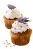 Daling cupcakes Royalty-vrije Stock Foto's