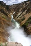 Daling en rivier in het Nationale Park van Yellowstone Royalty-vrije Stock Afbeeldingen