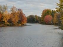 Daling op de rivier Stock Afbeelding