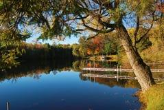 Daling op de rivier Royalty-vrije Stock Foto's