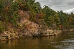 Daling op de Rivier van Wisconsin royalty-vrije stock afbeeldingen