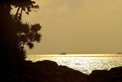 Daling op eilanden stock foto's