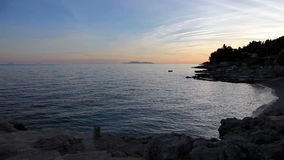 Daling op het eiland Hvar stock video