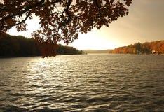 Daling op het meer Stock Afbeeldingen