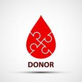 Daling van bloed Royalty-vrije Stock Foto's