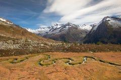 Daling van de Alpen Royalty-vrije Stock Afbeeldingen