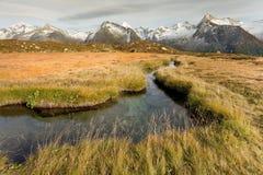 Daling van de Alpen Royalty-vrije Stock Foto's