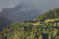 Daling van de Alpen, ahrntal ITALIË Stock Foto
