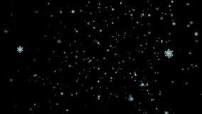 Daling 1 van de Kerstmissneeuw Loopable-Achtergrond stock videobeelden