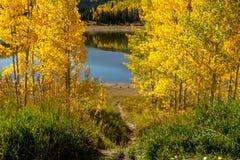 Daling van de Stoombootlentes Colorado Stock Foto