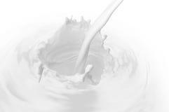 Daling van melk Stock Foto's