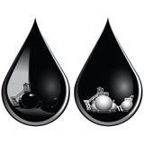 Daling van olie Stock Foto